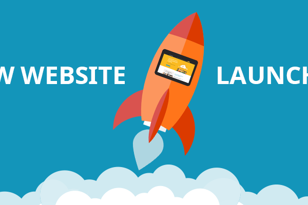 Image of a website launch